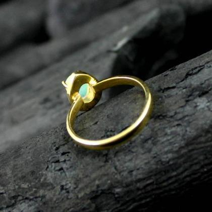 Solitaire Designer Ring,Natural Opa..