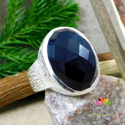 Impressive Black Onyx ring,Gift for..