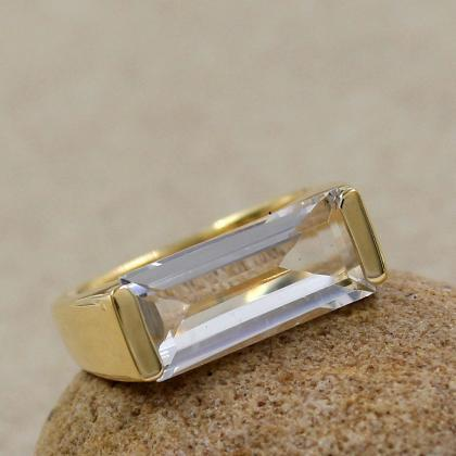 Healing Quartz Ring,Solid 925 Sterl..