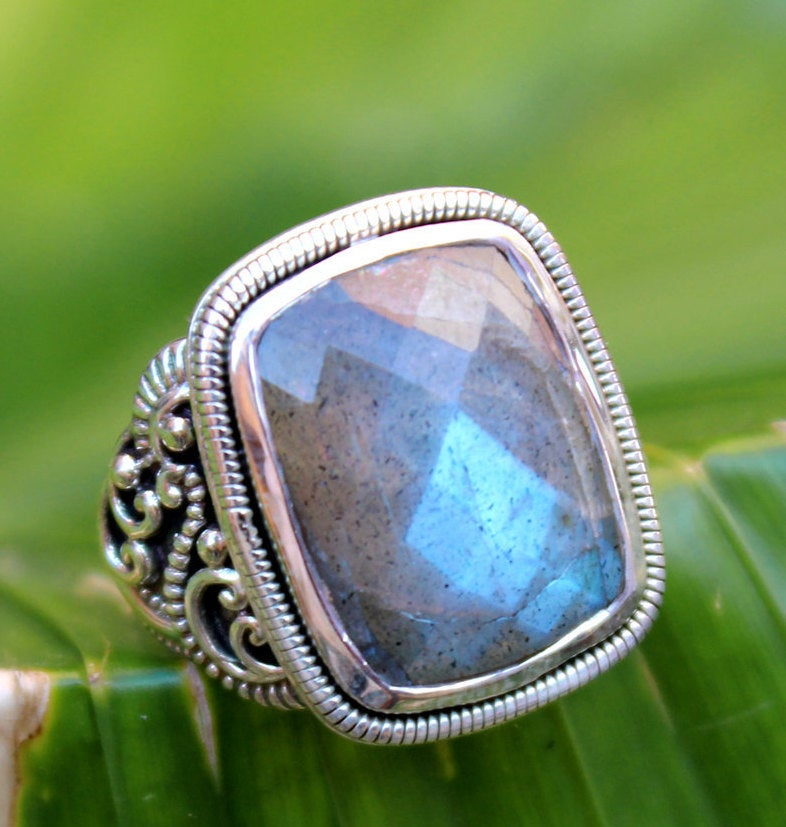 Mayhem Fire Labradorite Ring,Solid 925 sterling silver Women jewelry,Statement Ring,Anniversary Gift,gift for dad,Men's Ring,Valentine gift