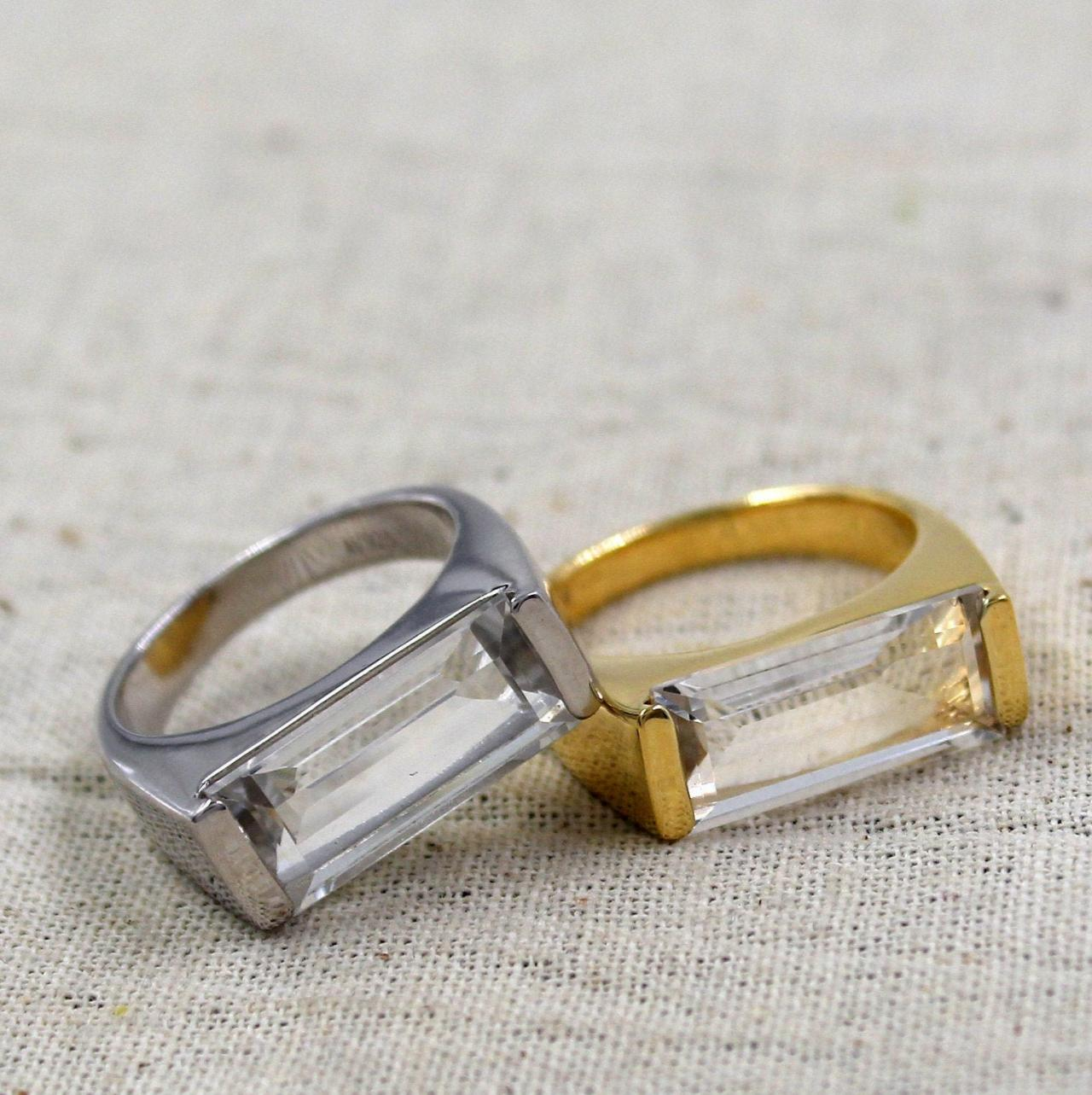 Healing Quartz Ring,Solid 925 Sterling Silver Jewelry,Anniversary Ring,Perfect Birthday Present for your spouse Present,My Natural Crystal
