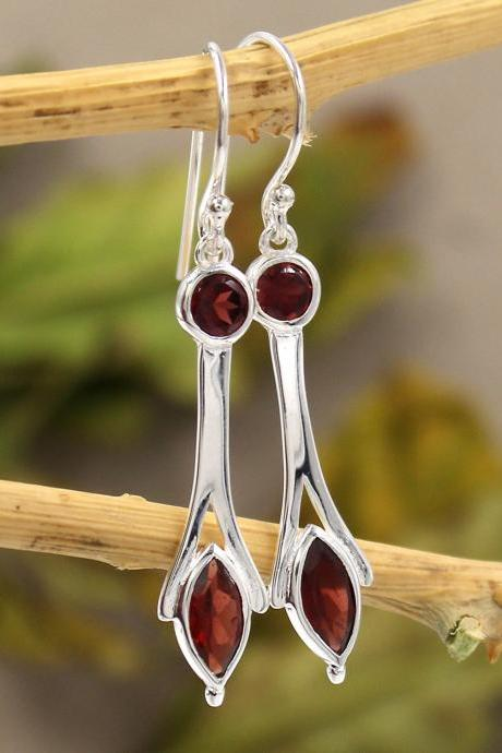 Multi Color Gemstone Drop Dangle Earring,Solid 925 Sterling Silver Jewelry,Formal Wear Earring,Proposal Gift Earring ETER252