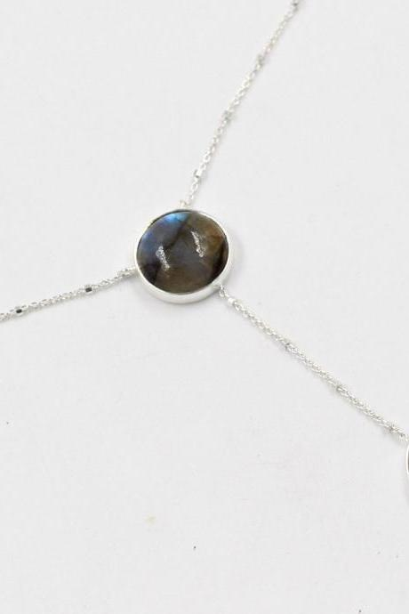 Labradorite Gemstone Handmade Necklace,Solid 925 Sterling Silver Jewelry,Women's Gift Necklace,Birthday Gift Necklace ETN0018